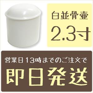 白並骨壷 2.3寸