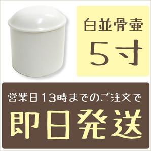 白並骨壷 5.0寸
