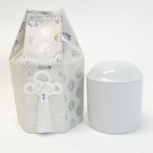 白並骨壷3.3寸&骨袋六角(金・銀)24個組セット