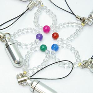 お守りストラップ 数珠付き(刻印可)